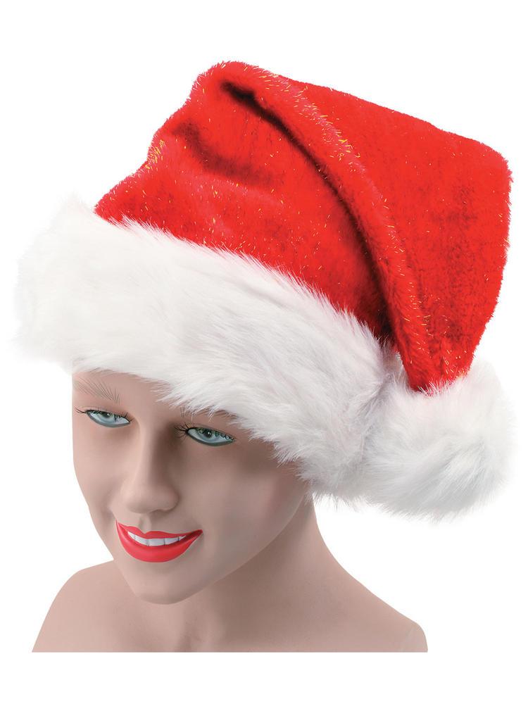 Plush Glitter Santa Hat