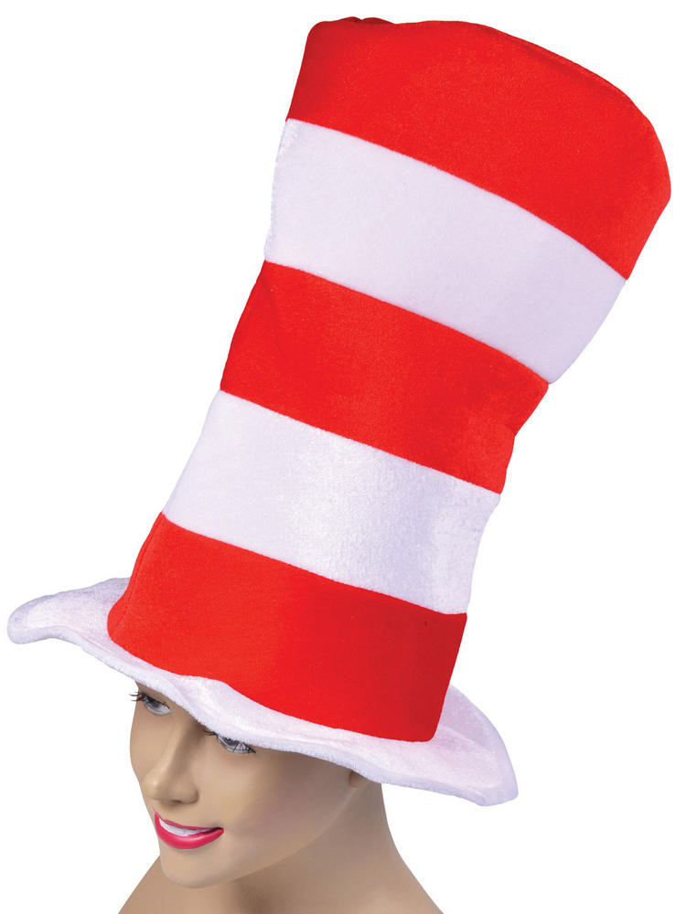 Adults Red And White Striped Top Hat