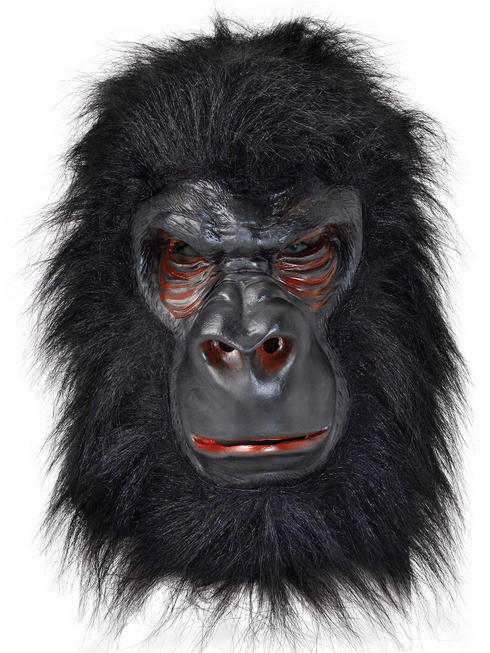 Adult's Latex with Hair Gorilla Mask