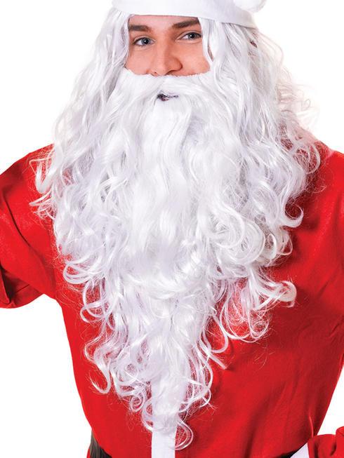 Santa / Wizard Budget Wig & Beard