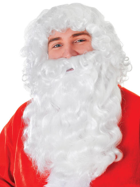 Santa Wig & Long White Beard