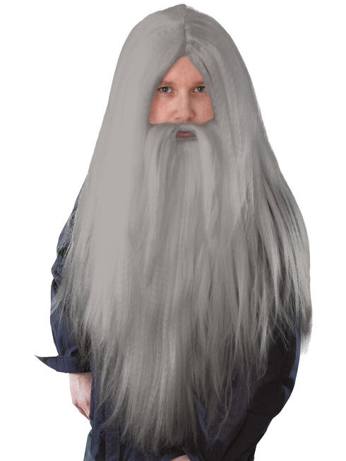 Mens Wizard Wig & Beard