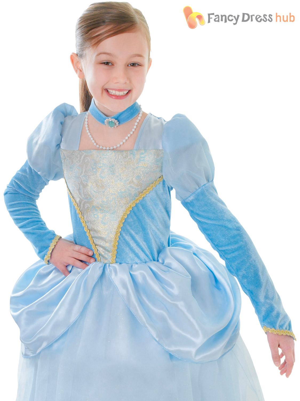 Ninas-Princesa-De-Disfraz-Cenicienta-Azul-Vestido-De-Fantasia-Cuento-De-Hadas-Traje-Semana-Libro