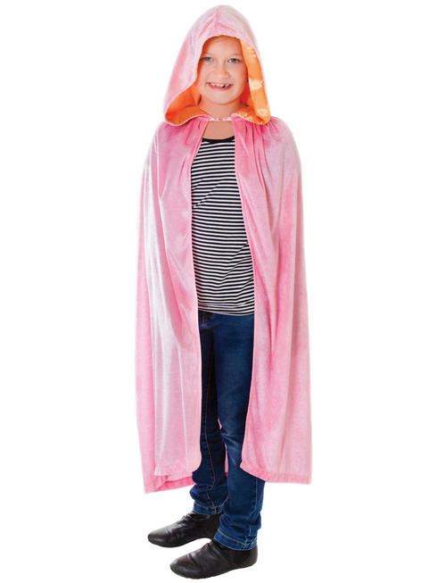 Child's Pink Hooded Cape