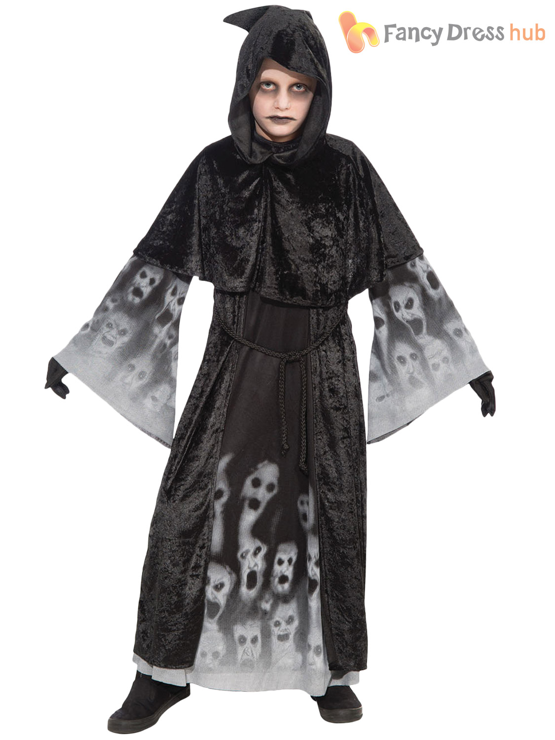 Boys Girls Ghost Witch Halloween Costume Forgotten Soulds Fancy ...