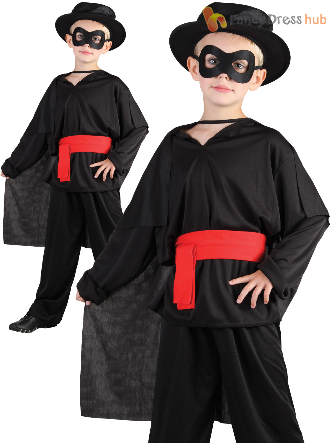 childrens kids bandit fancy dress costume lone ranger zorro outfit