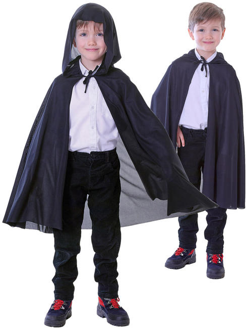 Child's Black Hooded Cape