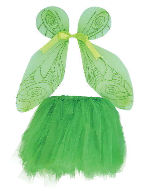 Child's Green Fairy Wings & Tutu