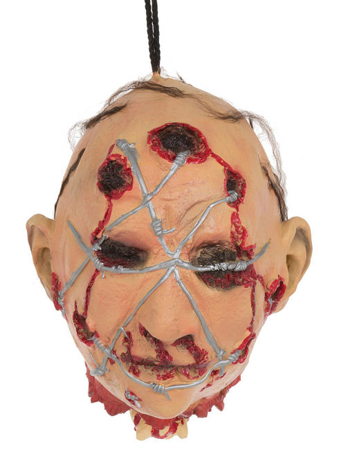 Barbed Wire Hanging Head Prop