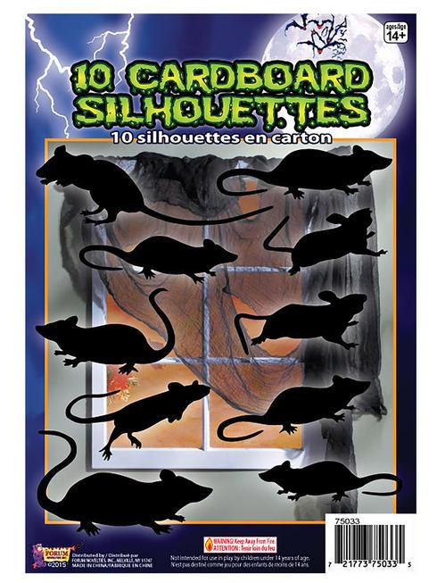 Halloween Rats Silhouette Shadow