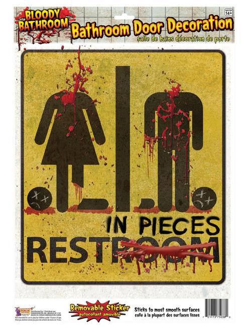 Halloween Bloody Unrestroom Sticker