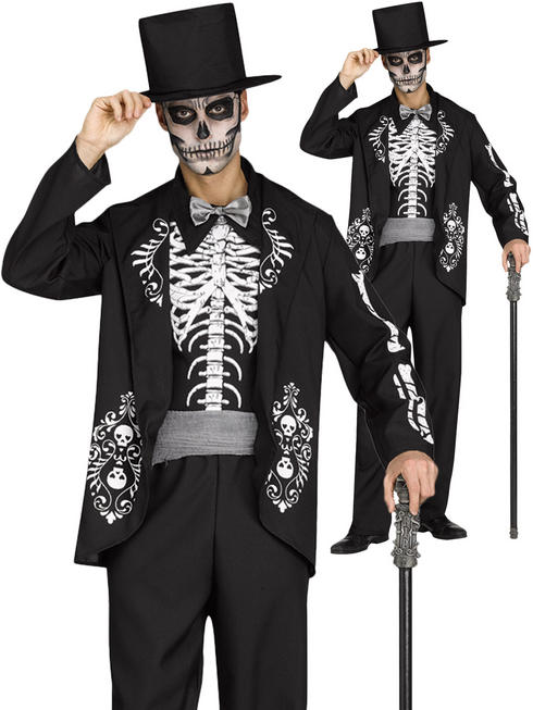 Men's Skeleton King Costume