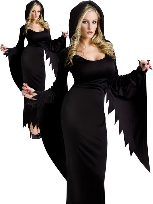 Ladies Hooded Gown Costume