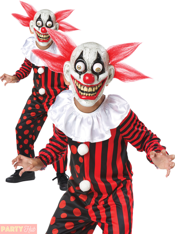 kids googly eye scary clown costume boys halloween evil circus fancy dress child ebay. Black Bedroom Furniture Sets. Home Design Ideas