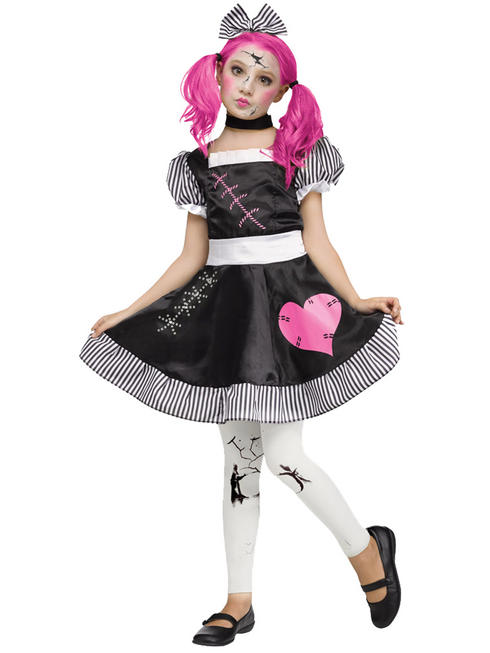 Girl's Broken Doll Costume