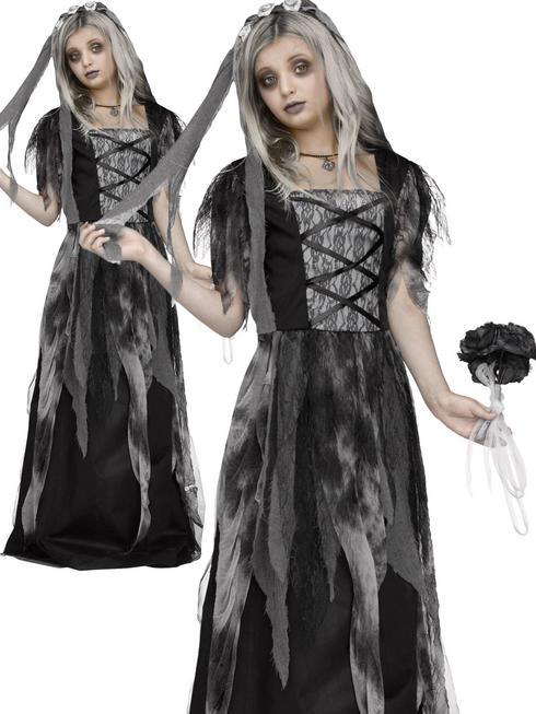 Girl's Cemetery Bride Costume