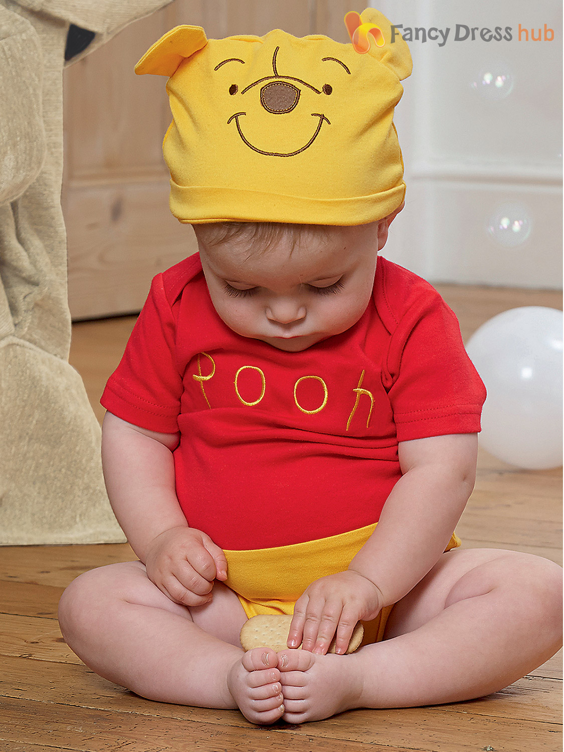 Disney-Baby-Winnie-the-Pooh-Bodysuit-Hood-Outfit-Toddler-Fancy-Dress-Costume thumbnail 9