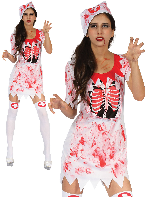 Ladies Bloody Nurse Costume All Halloween Fancy Dress Hub