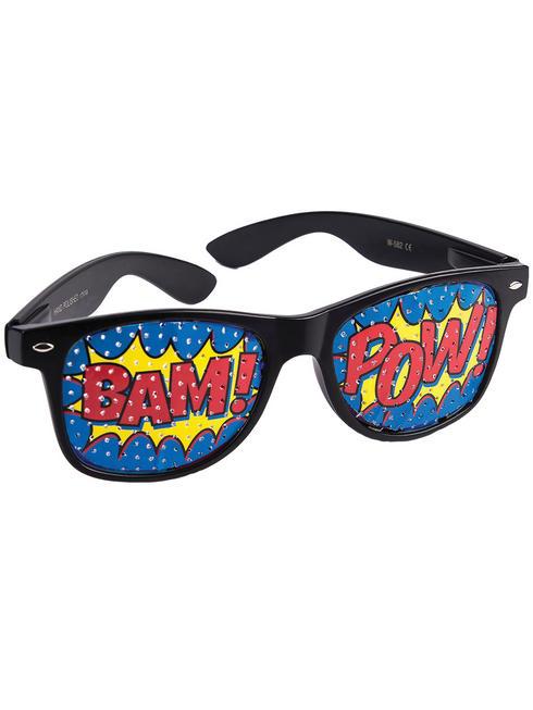 Pop Art 'POW' Screened Glasses