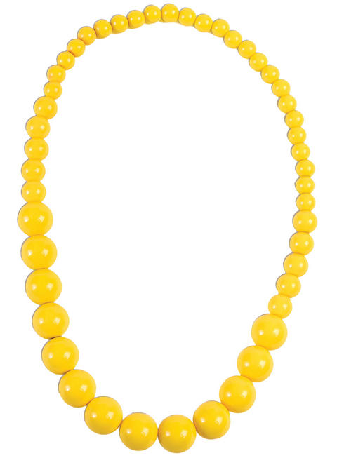 Pop Art Yellow Pearl Necklace