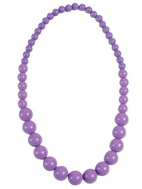 Pop Art Purple Pearl Necklace