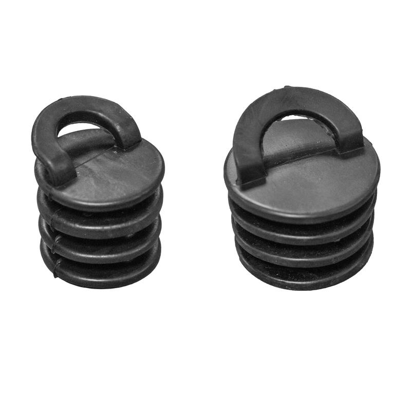 Black Scupper Plugs - 3 or 4cm