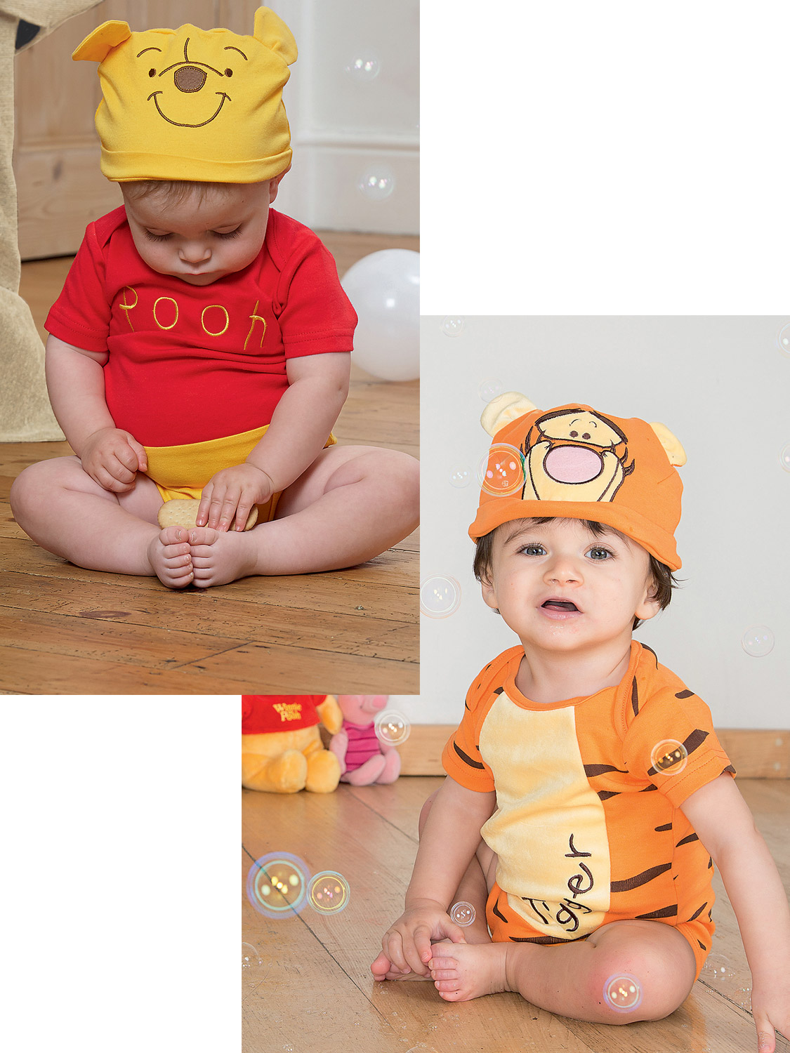 2ef3c7ec0300 Details about Disney Baby Winnie the Pooh Bodysuit + Hood Outfit Toddler  Fancy Dress Costume