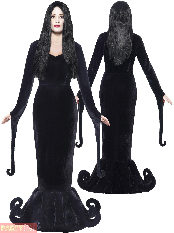 Mens-Ladies-Gomez-Morticia-Couples-Costume-Adult-Halloween-  sc 1 st  eBay & Mens Ladies Gomez Morticia Couples Costume Adult Halloween Fancy ...