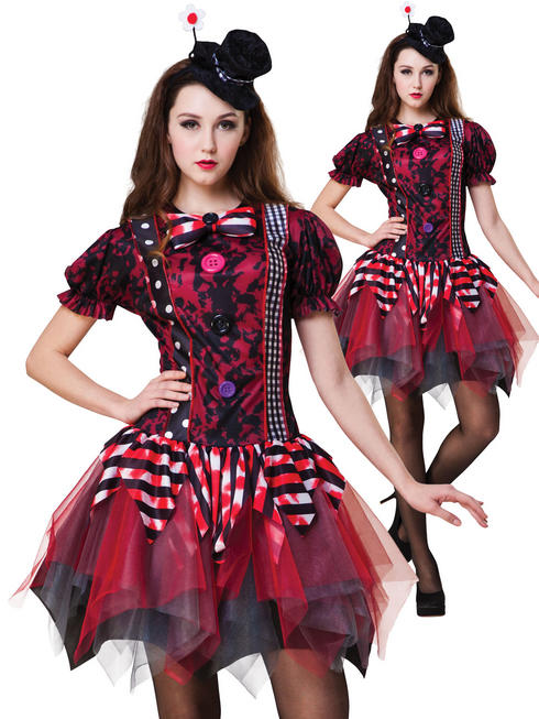 Ladies Horror Clown Costume - Standard