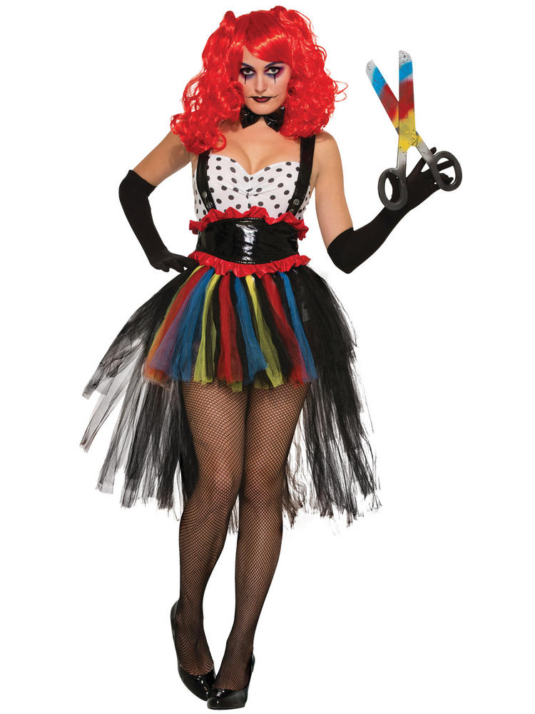 Ladies Evil Girlie Clown Costume