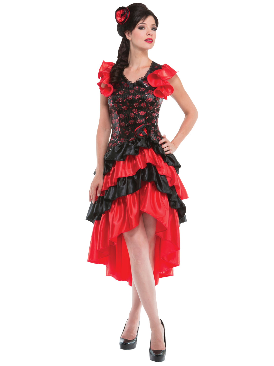 Ladies spanish costume adults senorita flamenco dancer rumba fancy image 2 solutioingenieria Images