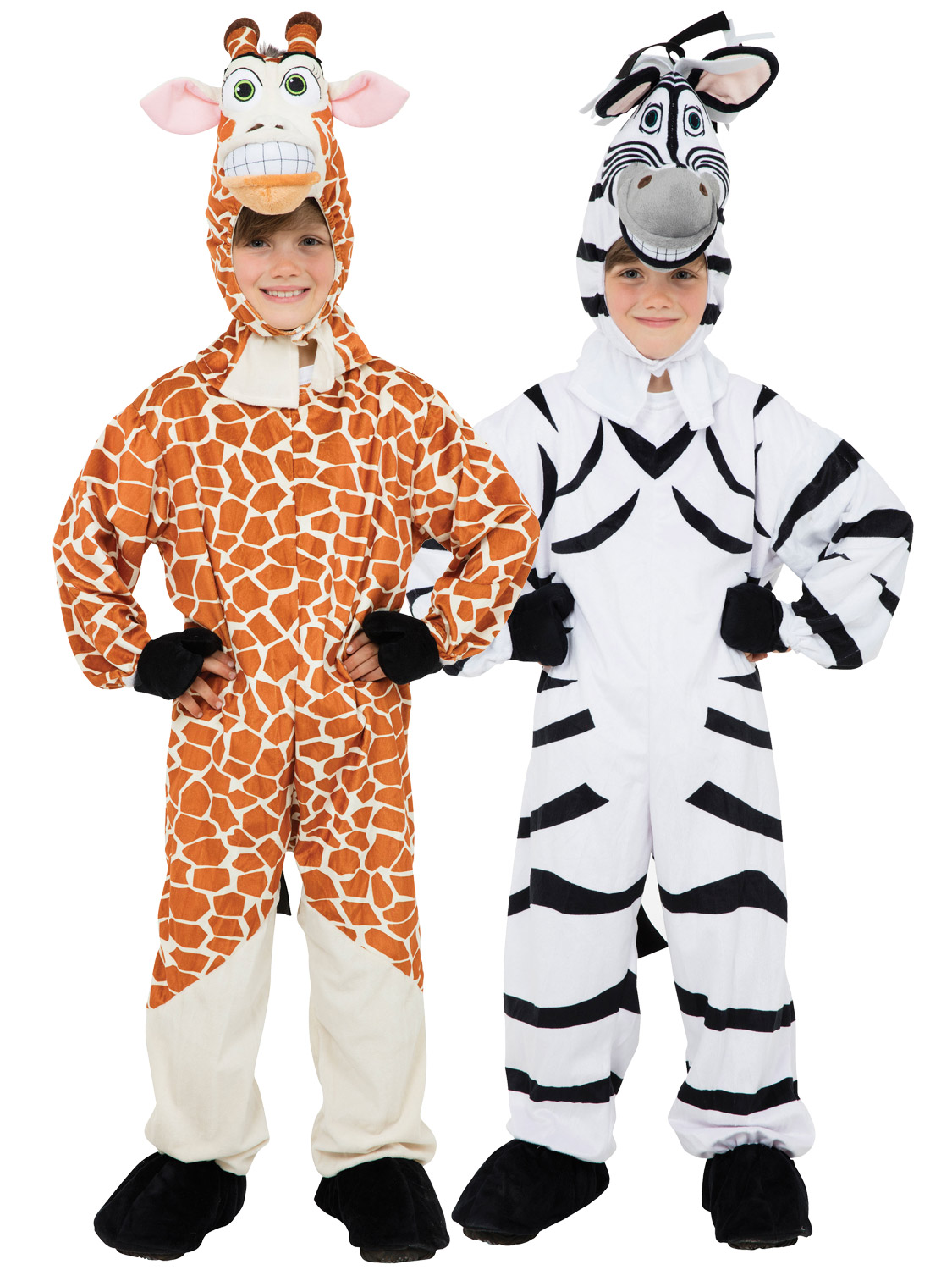 Transform your child into a Zoo Animal with either of these cute Kids Giraffe or Zebra Outfitsu2026 Ideal for Book Week!  sc 1 st  eBay & Childs Giraffe Zebra Costume Boy Girl Animal Zoo Fancy Dress Book ...