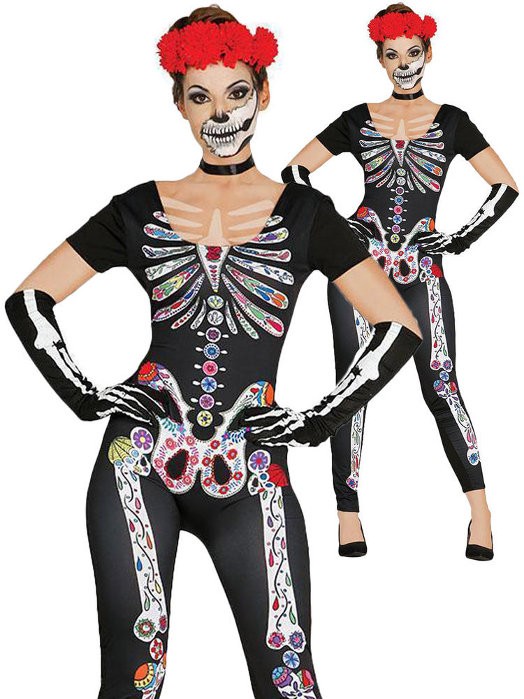 Ladies Day of the Dead Jumpsuit