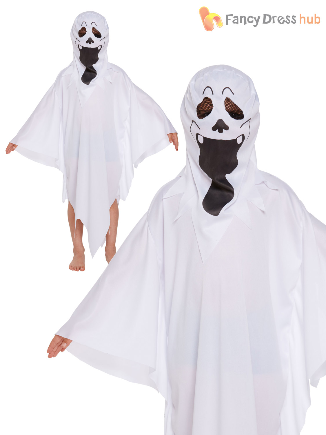 childrens ghost costume boy girl ghastly ghoul halloween