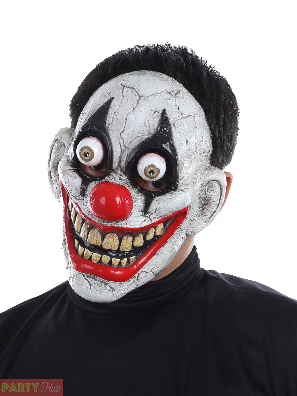 adult halloween mask clown pumpkin skull zombie bobble eye fancy