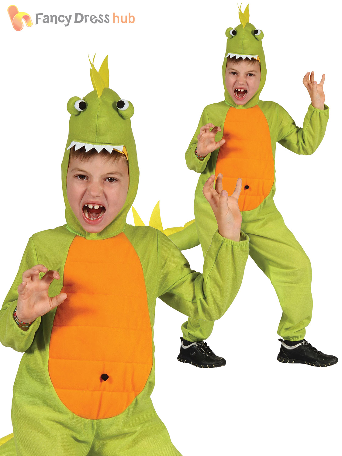Childrens-Dinosaur-Costume-Boys-Girls-Jurassic-Fancy-Dress-  sc 1 st  eBay & Childrens Dinosaur Costume Boys Girls Jurassic Fancy Dress Kids Book ...