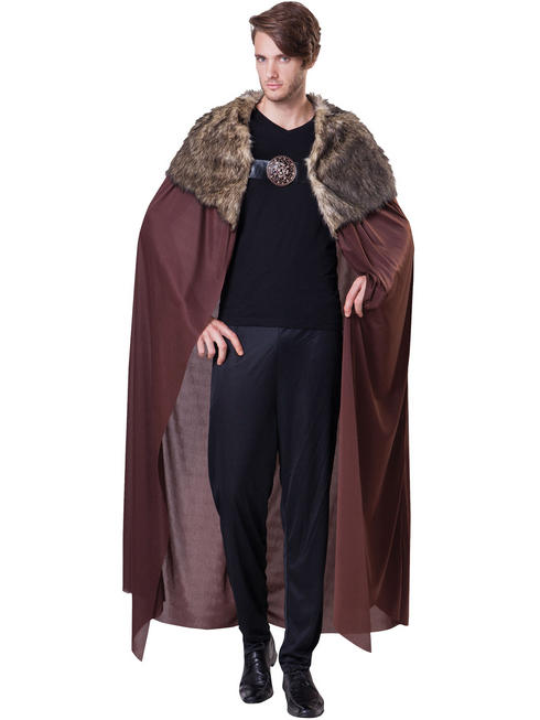 Men's Deluxe Cape With Plush Collar
