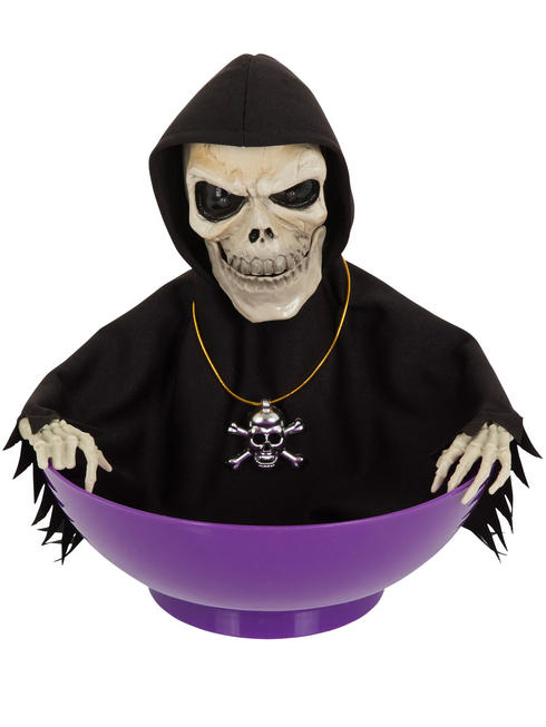 Candy Bowl With Animated Skeleton