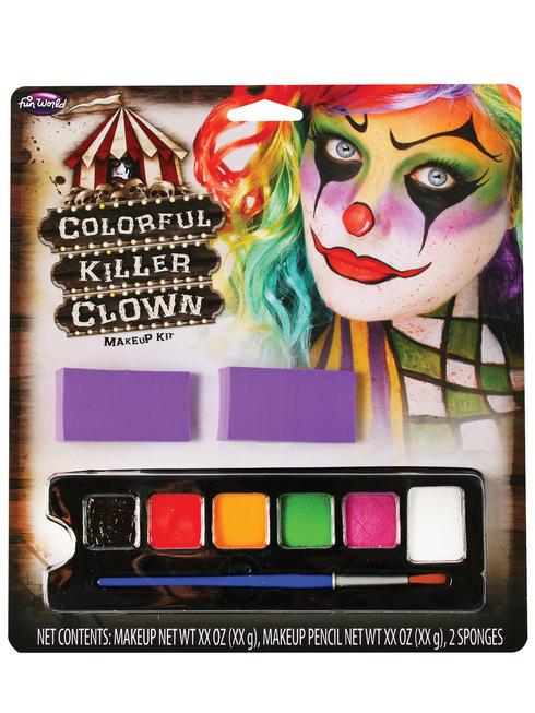 Halloween Colourful Clown Make-Up Kit