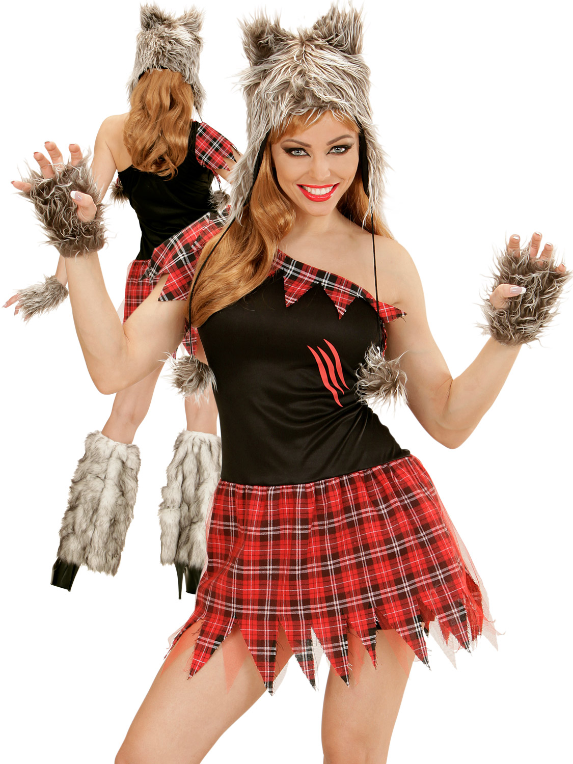 Ladies werewolf costume sexy wolf lady halloween fancy dress womens transform yourself into a rabid werewolf this halloween and make a howling impression with this ladies wolf lady costume solutioingenieria Image collections