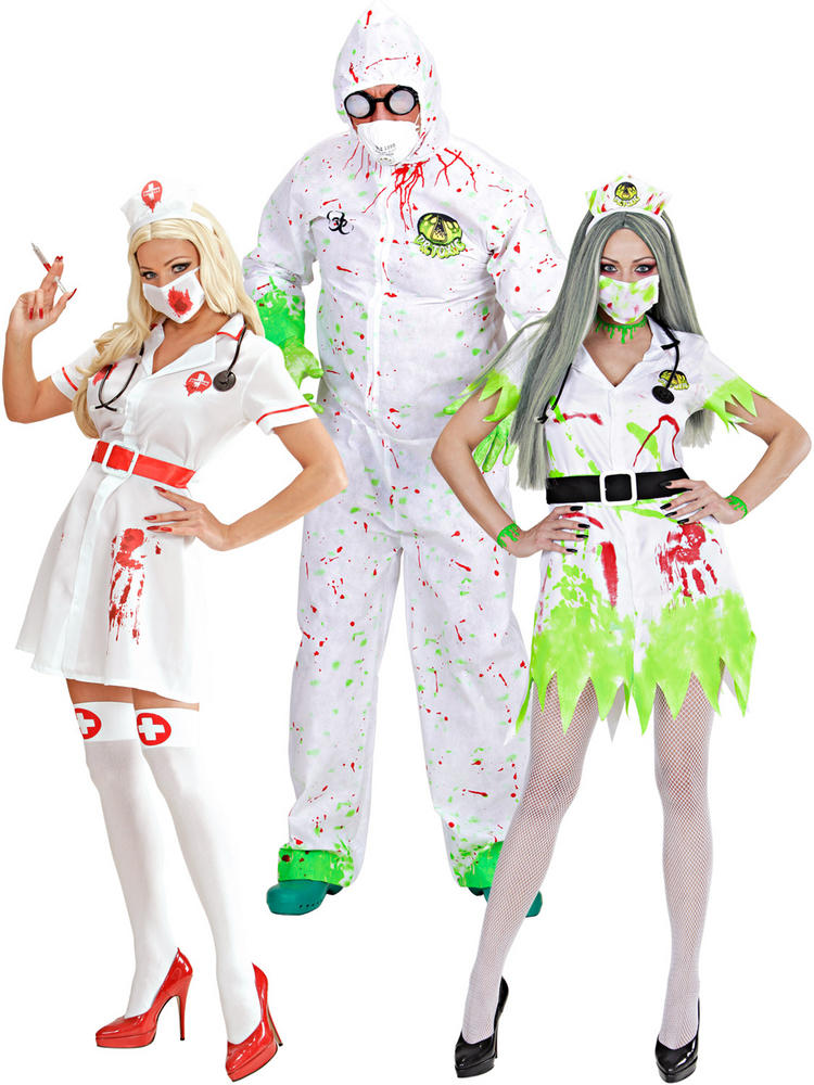 Adults Dr Nurse Toxic Costume