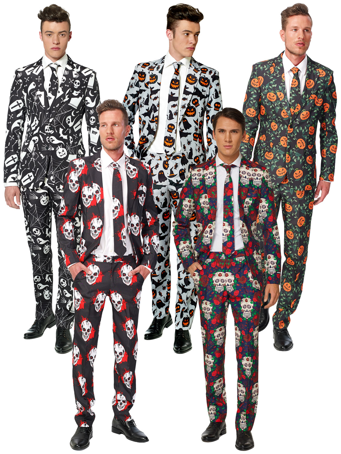 MENS SKULL DAY OF THE DEAD MEXICAN HALLOWEEN SUIT OPPOSUIT SUITMEISTER STAG