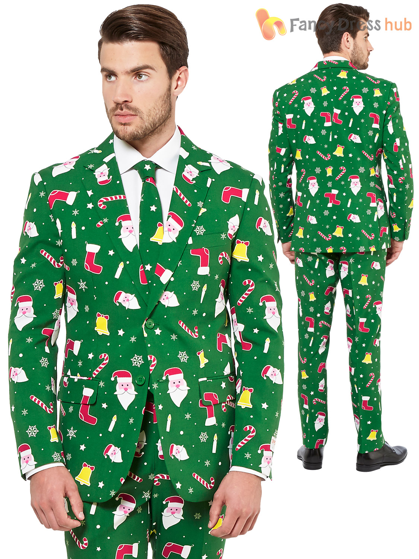 Mens Deluxe Christmas Opposuit Adult Xmas Festive Oppo ...