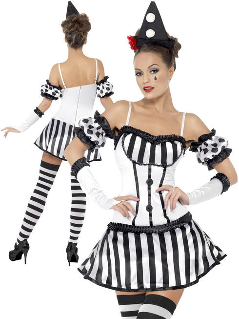 Ladies Clown Mime Diva Costume