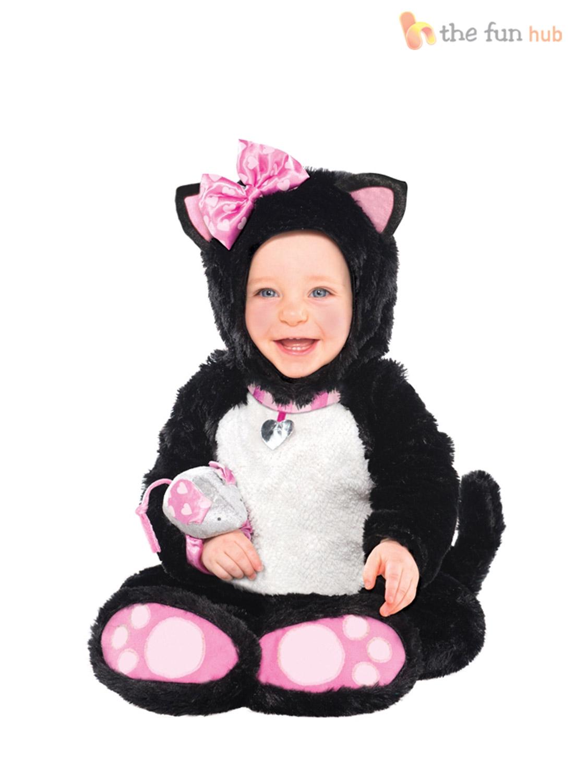 Baby-Toddler-Cat-Costume-Girl-Childs-Animal-Fancy-  sc 1 st  eBay & Baby Toddler Cat Costume Girl Childs Animal Fancy Dress Itty Bitty ...