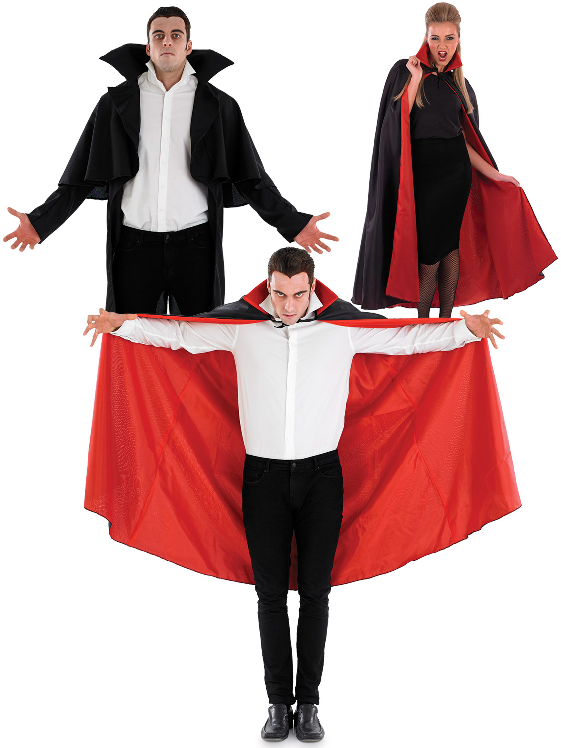 Adult black vampire cape coat men ladies halloween fancy dress transform yourself into a vampire with this adults high collared cape perfect if you fancy yourself as dracula or a vampiress solutioingenieria Image collections