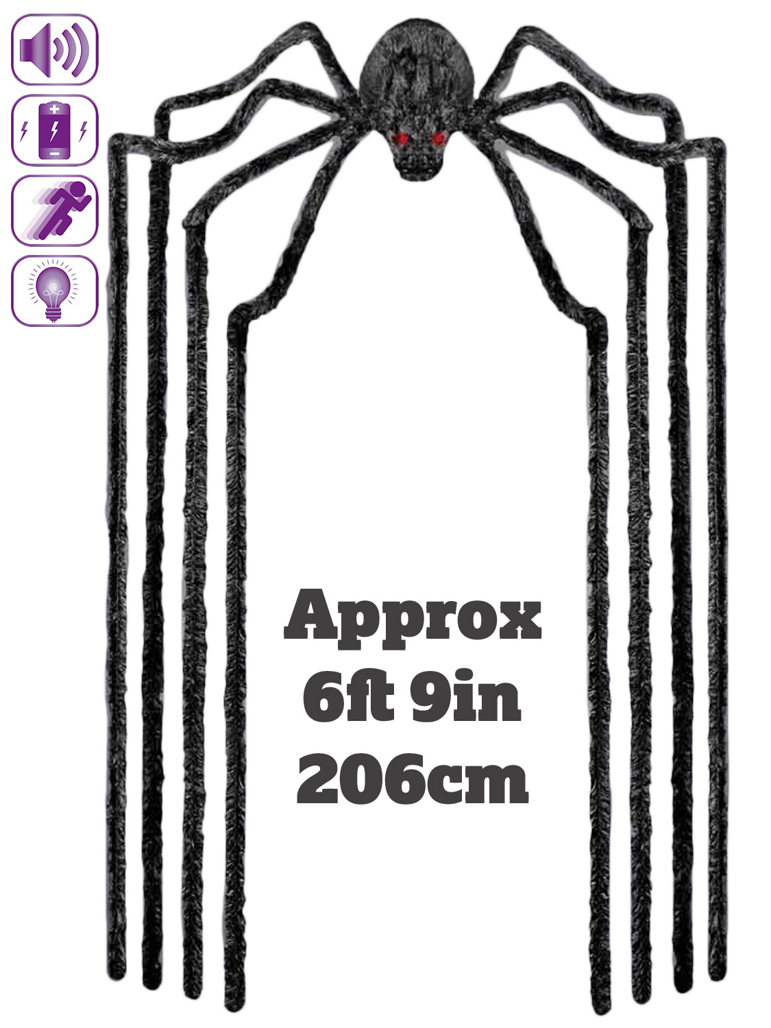 Animated haunted spider halloween prop party decoration for Animated spider halloween decoration