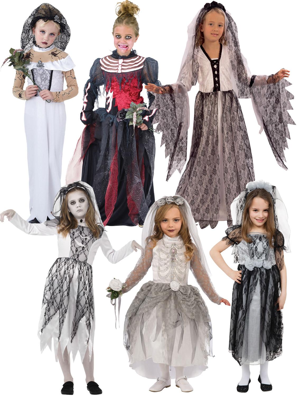 Corpse Bride Halloween Costume Diy.Details About Girls Ghost Zombie Corpse Bride Fancy Dress Up Halloween Book Week Kids Costume