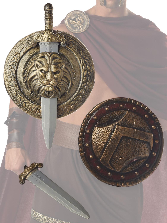 AC621 Shield 44cm Ram Viking Gladiator Roman Spartan Combat Warrior Costume