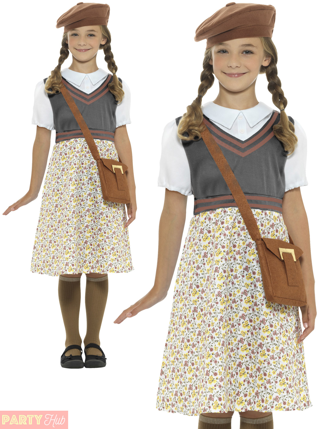 1940s WW2 School Girl Wartime Costume Kids Fancy Dress ...